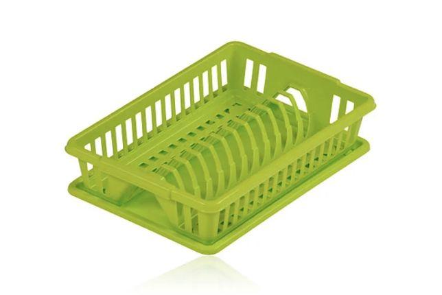 Сушарка для посуду з піддоном пластикова Heidrun Kitchen Mix 38*26*9 с