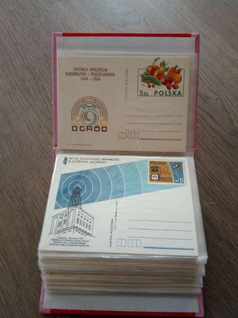 całostki -kartki pocztowe ' 84
