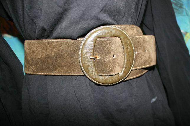 Женский кожаный ремень,цвета темный хаки размер М р