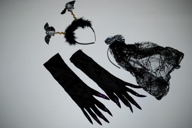 аксессуары для хеллоуина ведьмы кольдуньи обруч вуаль мышка