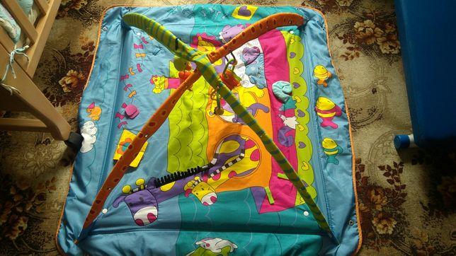 Развивающий коврик tiny love+игрушки, грызунки