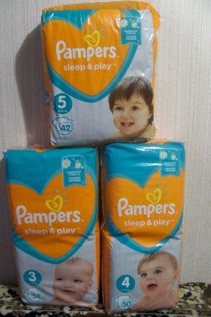 Памперсы для детей Pampers Sleep & Play с ромашкой
