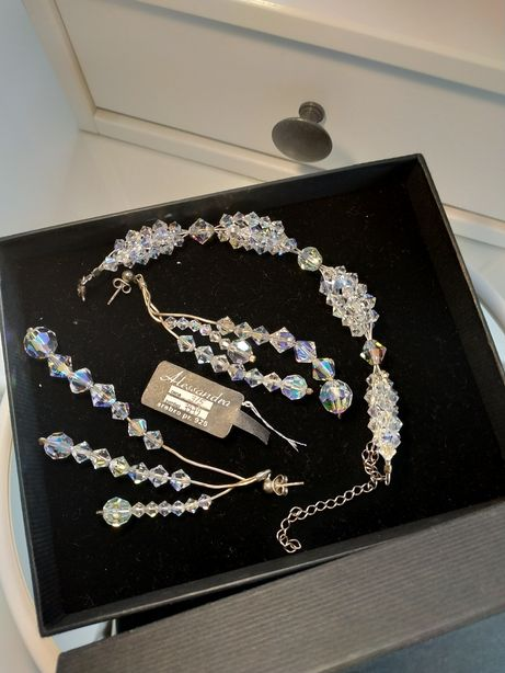 Srebrna biżuteria ślubna Swarovski