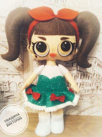 Кукла Лол из фетра
