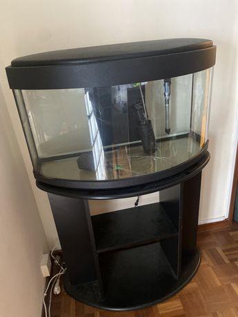 Aquario com movel de suporte