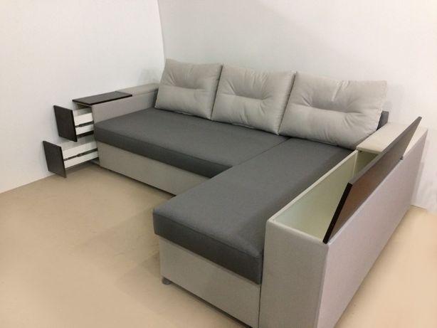 """Угловой диван на пружинном блоке """"СТИЛЬ"""", еврокнижка, корпусная."""