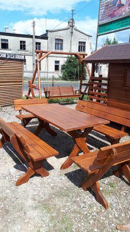 Zestaw mebli ogrodowych, stół ławki fotele