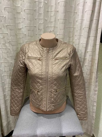 Куртка косуха еко-кожа на дівчинку 10-11 років