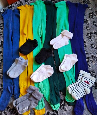 Колготки и носки пакетом на 86-92см