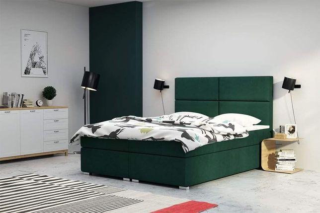 Łóżko sypialniane kontynentalne z wbudowanym materacem