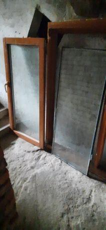 Продам б/у деревяное евроокно