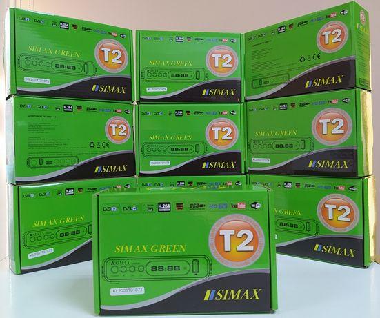 Новый приставка Т2 DVB-T/T2/C ресивер приемник SIMAX GREEN HD YouTube