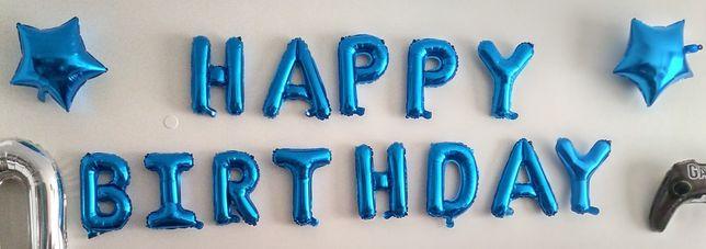 Balões aniversário + fita + autocolantes