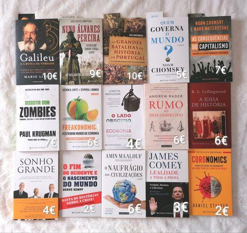 Livros novos, a estrear, de história, política e economia -Desde 2€