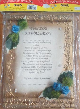 Dyplom z życzeniami na wieczór kawalerski