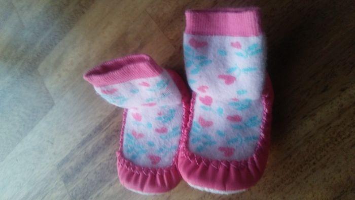 Skarpety dziewczęce różowe usztywniane 20-22 Skórzewo - image 1