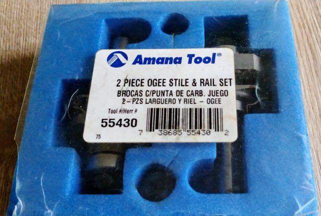 Zestaw 2 frezów do drzwiczek, ramek, szprosów Amana Tool