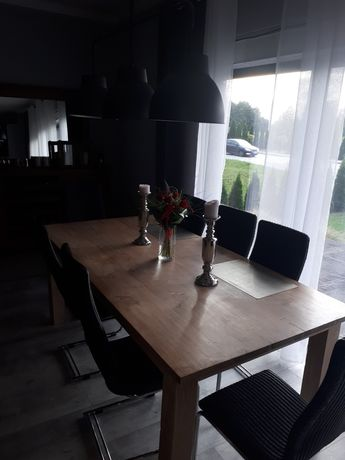 Stół industrialny loft,lite drewno tekowe