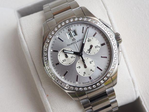 Женские новые часы Maurice Lacroix Miros Diamond Chronograph