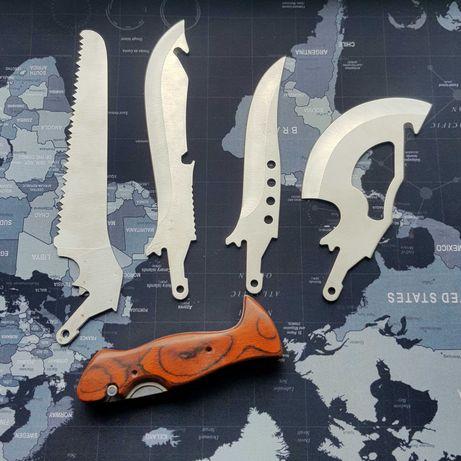 Набор походный туристический 4в1 нож, топор, пила, тесак + чехол