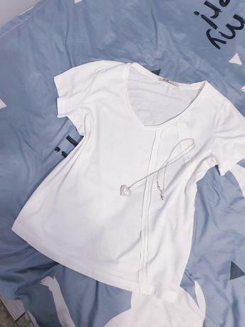 Biała bluzka przeszycia Big Star L 40