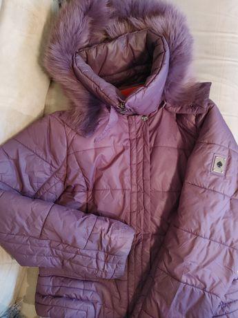 Sprzedam kurtkę Tiffi fioletową +kaptur z jenota