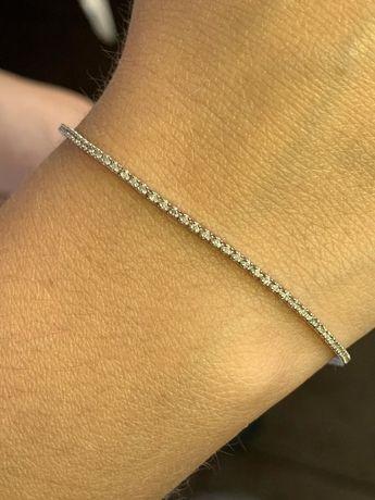 Продам браслет тенисный  Белое золото с бриллиантыми
