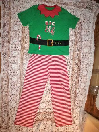 Elf Strój świąteczny przebranie święty Mikołaj pomocnik XL