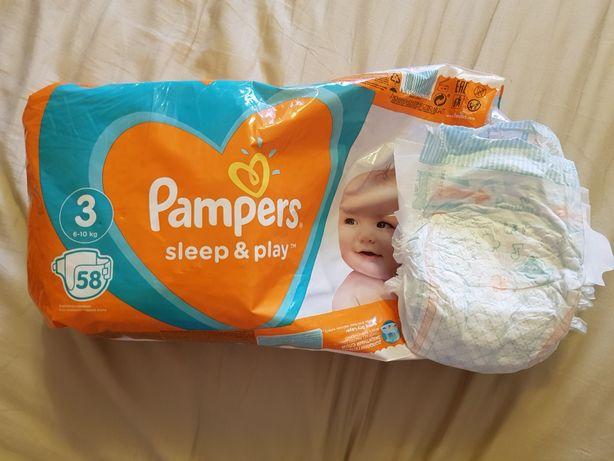 Подгузники Pampers sleep & play 3