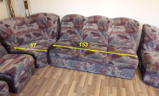 Narożnik, kanapa, sofa, spanie, rozdzielane elementy + pufa