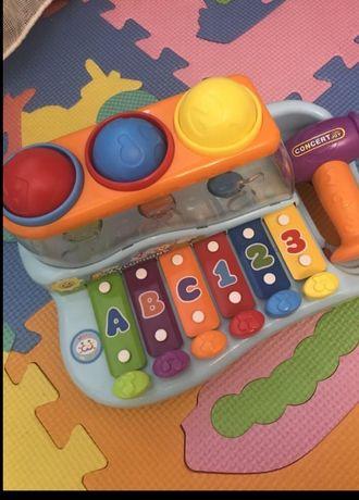 """Музыкальная игрушка """"Ксилофон"""" - Huile Toys"""