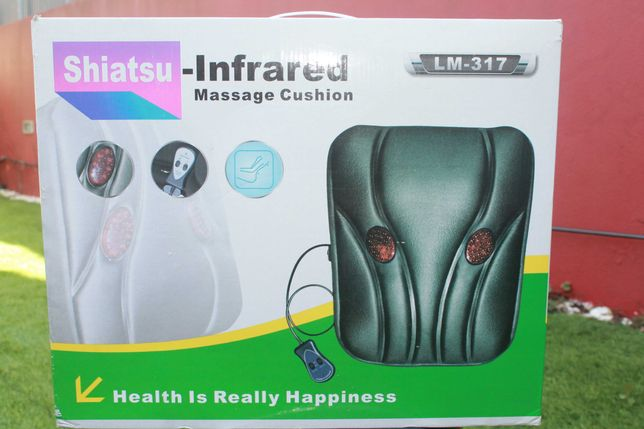 Almofada de massagens, termoterapia, SHIATSU-INFRARED,  A estrear.