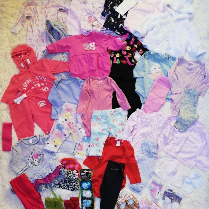 Zestaw ubranek dla dziewczynki 62 0-3m jesień zima komplet Żywiec - image 1