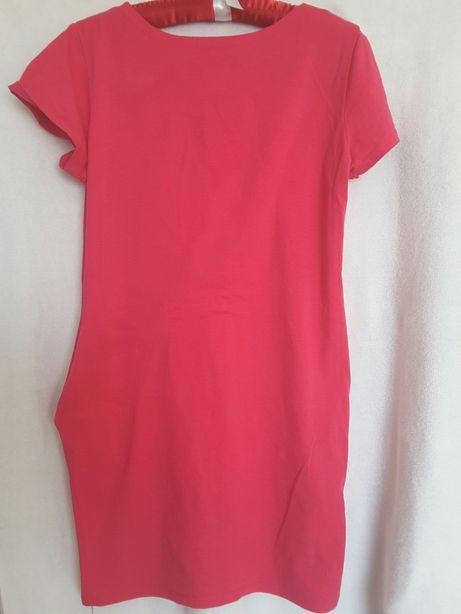 Róźowa sukienka tunika