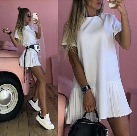 Белое платье в стиле ЗАРА