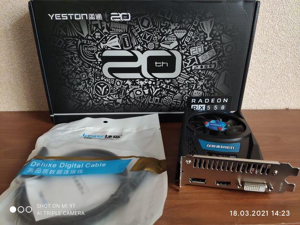 Видеокарта AMD RX 550 2 Gb