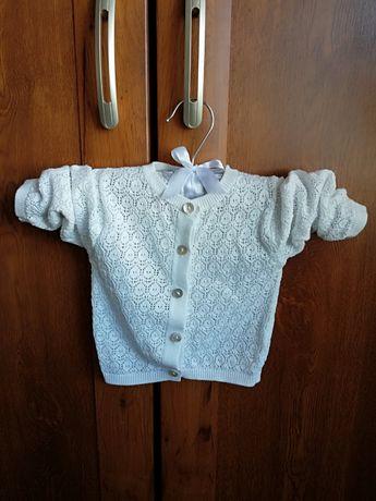 Sweterek ażurowy Reserved 68 biały