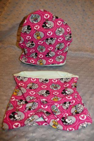Komplet czapka+komin Myszka Minnie, Disney