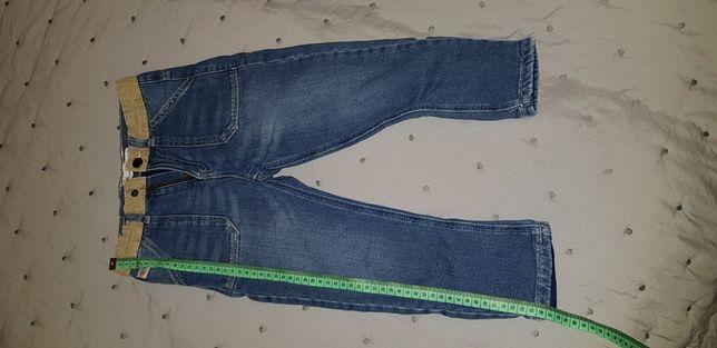 Spodnie jeans z bawełnianą podszewką Zara Baby rozmiar 110