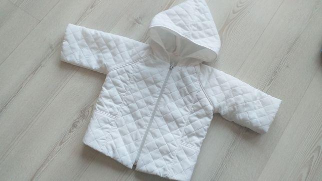Biala kurtka pikowana chrzciny