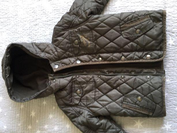 Kurtka jesienna khaki pikowana chłopięca 3-4 L 104