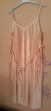 Brudny roz. Sukienka ciazowa i po H&M r. M