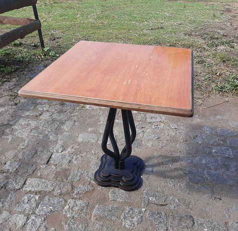 4 mesas de jardim pé em ferro