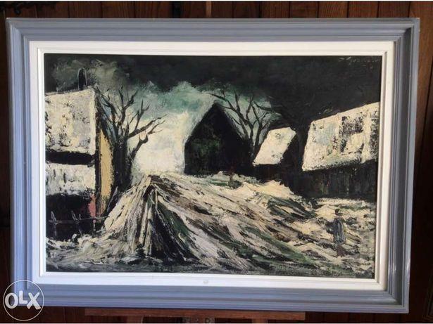 Arte - Óleo O Inverno - autor Hollandes 1939