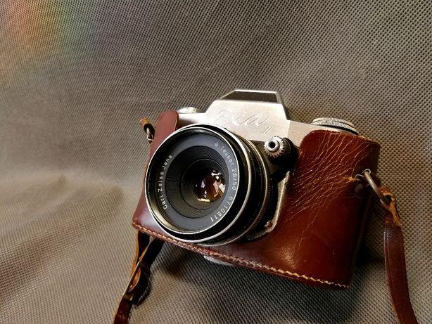 Aparat 1960 Ihagee Dresden Exa II + Zeiss Tessar 2.8/50mm