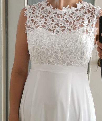 Suknia biała ślubna długa