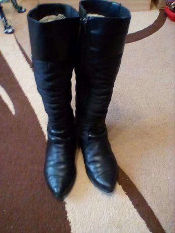 Сапоги зимние кожаные размер 36-36.5