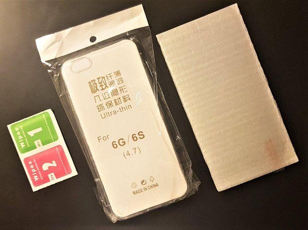 IPhone 6S Capa Transparente + Protecção de vidro | NOVO (Selado)