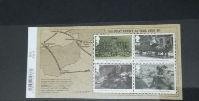 """Selos """"Os correios durante a I Guerra mundial"""" (Novos)"""