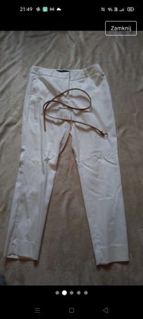 Nowe jasne/kremowe spodnie 3/4. Reserved rozmiar 38
